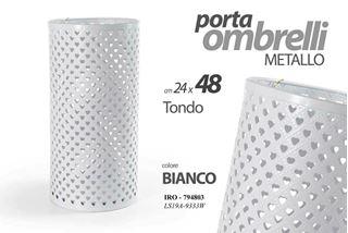 Immagine di PORTAOMBRELLI IRO TONDO TRAFORATO BIANCO CM 24X24X48