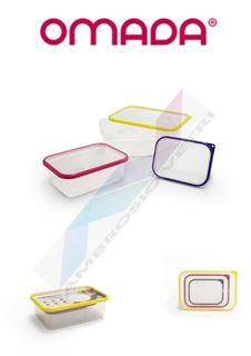 Immagine di SET 3 FRIGO BOX SANALIVING 15X11H5 19X14H6.5 24X16.5H8 COL. ASS.